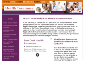 goodhealthinsurancerates.com