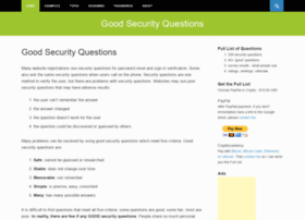 goodsecurityquestions.com