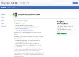 google-api-python-client.googlecode.com