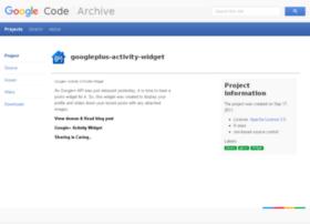 googleplus-activity-widget.googlecode.com