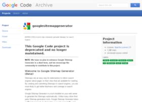 googlesitemapgenerator.googlecode.com
