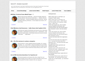 govtjobsbank.blogspot.in
