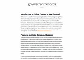 govwarrantrecords.org