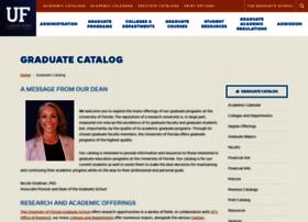 gradcatalog.ufl.edu