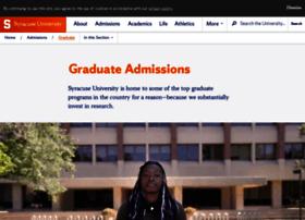 Graduateadmissions.syr.edu