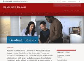 graduatestudies.cua.edu