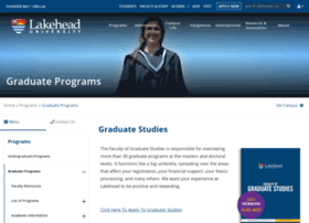 graduatestudies.lakeheadu.ca