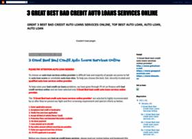 great-bad-credit-auto-loan.blogspot.com