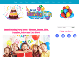 Birthday Party Ideas - Kids, Teen, Adult Birthday Ideas and Gifts