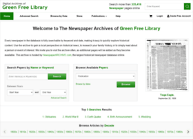 greenfreelibrary.newspaperarchive.com