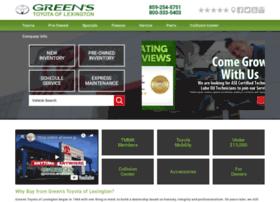 greenstoyotaoflexington.com