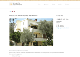 gregovic-apartments.com