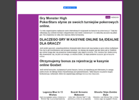 grymonsterhigh.pl info. GryMonsterHigh.pl - Gry Monster High, czyli