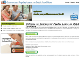 guaranteedpaydayloansnodebitcardnow.co.uk