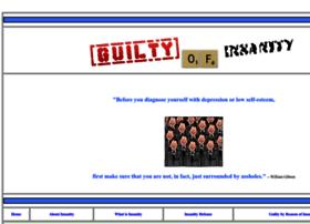 guiltyofinsanity.com