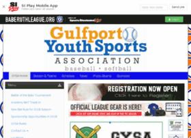 gulfportyouthsports.baberuthonline.com