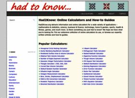 had2know.com