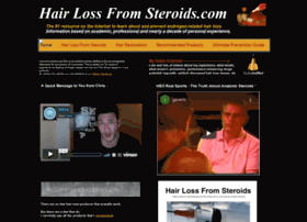 hairlossfromsteroids.com