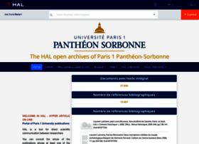 hal-paris1.archives-ouvertes.fr