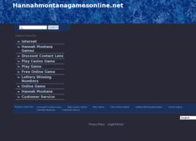 hannahmontanagamesonline.net
