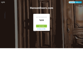 hansondoors.com