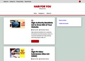 hariforyou.com