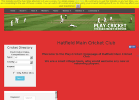 Hatfieldmain.play-cricket.com