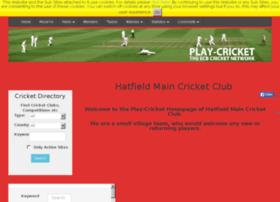 hatfieldmain.play-cricket.com
