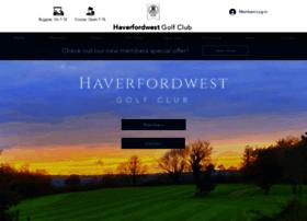haverfordwestgolfclub.co.uk