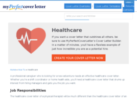 healthcare.myperfectcoverletter.com