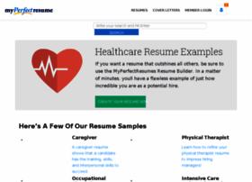 healthcare.myperfectresume.com