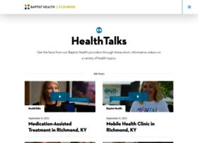 healthtalks.baptisthealthkentucky.com