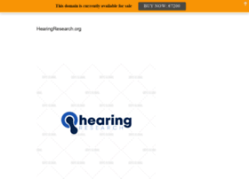 hearingresearch.org