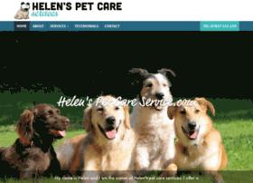 helenspetcareservice.com
