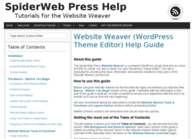 help.spiderwebpress.com