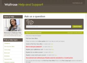 helpandsupport.waitrose.com