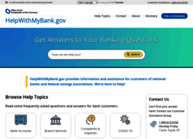 helpwithmybank.gov