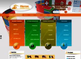 heronlanguageservices.com