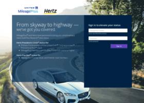 hertzstatus.mileageplus.com