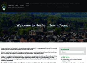 hexhamtowncouncil.gov.uk