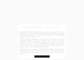 hiddenridgevineyard.com