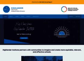 highlanderinstitute.org