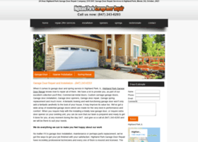 highlandparkgaragedoorrepair.biz
