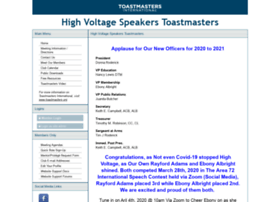 highvoltagespeakers.toastmastersclubs.org
