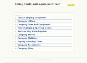 hiking-tents-and-equipment.com