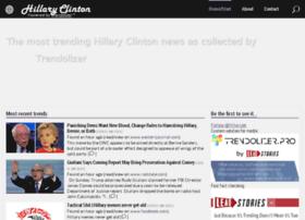 hillaryclinton.trendolizer.com