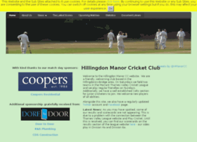 Hillingdonmanor.play-cricket.com