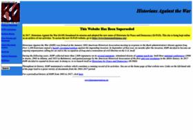 historiansagainstwar.org