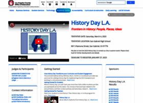 Historydayla.lacoe.edu