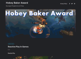 hobeybakeraward.com